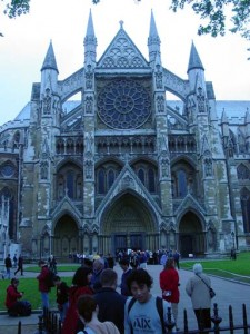 The entrance of Westminster Abbey