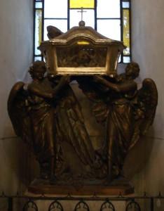 A reliquary inside a church in Siracusa