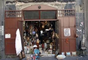 An antique shop in Naples