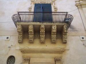 The balconies of Palazzo Nicolaci