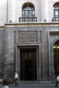 The facade of Banco di Napoli