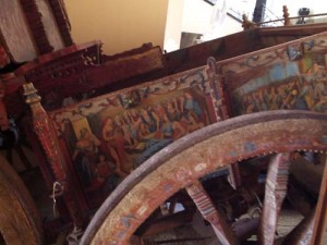 A chariot, or cart, with painted sides - traditional in Sicily