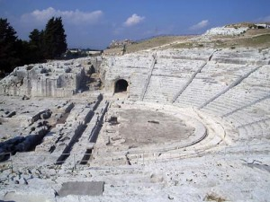 The Greek theatre in Siracusa