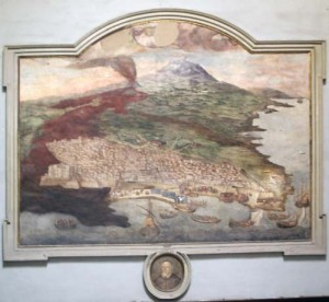 A map of Catania from inside the Duomo
