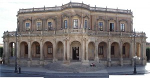 The facade of Palazzo Ducezio