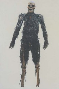 A man that was disected and preserved in 1760, from the museum collection.