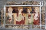 Fresco of four women