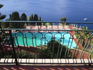 The Pool at our hotel in Taormina