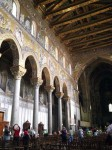 View down the main aisle of the Duomo in Monreale