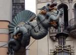 Dragon on a Chinese restaurant on La Rambas