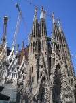 The facade of one side of Sagrada Familia
