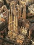 An arial view of Sagrada Familia