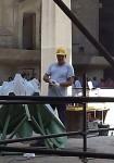 A worker working on the Sagrada Familia