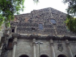 The facade of Sant Agusti was never finished