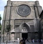 The facade of Santa Maria del Pi