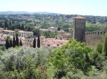 A view behind the Boboli Gardens from the top