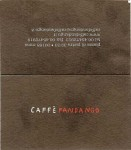 The business card for Cafe Fandango