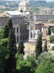 A view of ruins from the Capitoline Hill