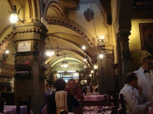 Where we had dinner - a former church with frescoes from the 1800s