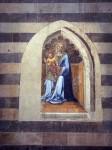 A frescoe on a wall inside the Duomo