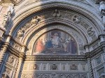 Mosaic over the doors of the Duomo