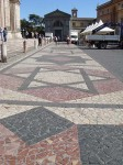 The mosaic street outside the Duomo