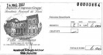The ticket for Villa Farnesina