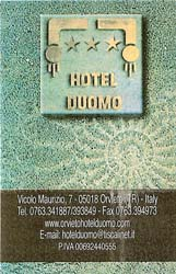 Card for the Hotel Duomo - looks like a nice place and the people were very helpful