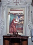 A fresco of St. Jerome by Botticelli