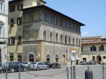 A painted building on the same piazza as the Orgnissanti - its now a French cultural organization and library