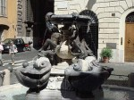 The fountain at Palazzo Mattei