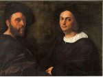 """Portrait of Andrea Navagero and Agostino Beazzano"" by Raffaello"