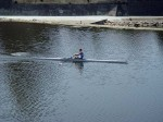 A man rowing on the Arno - this is very common