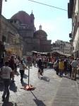 The San Lorenzo open-air market