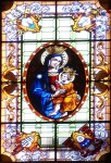 A window of the Madonna and child