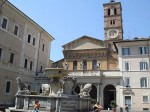 The facade of Santa Maria in Trastevere