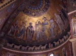 The mosaic behind the altar