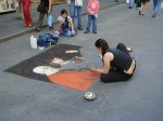 And she's back using pastels on the street