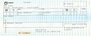 The train ticket to Orvieto from Rome