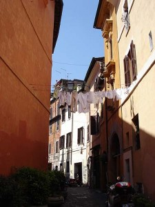 This is what the streets look like in Trastevere