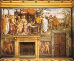 Marriage of Alexander the Great and Roxana, east side of room