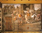 Marriage of Alexander the Great and Roxana, west side of room