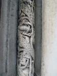 A detail of the facade