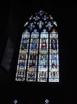 The famous blue windows of Chartres Cathedral