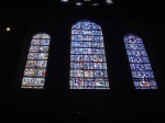 The oldest windows at Chartres over the entrance