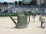 A huge watering can