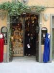 Aviva entering the mask shop