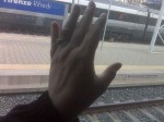 Aviva's hand on the way back to Florence