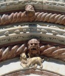 A cool detail above the exit to the Duomo