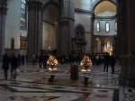Candles inside the Duomo
